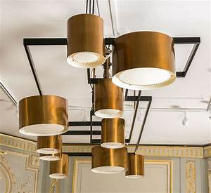 Large copper pendant lighting : Large modernist copper chandelier pendant lighting