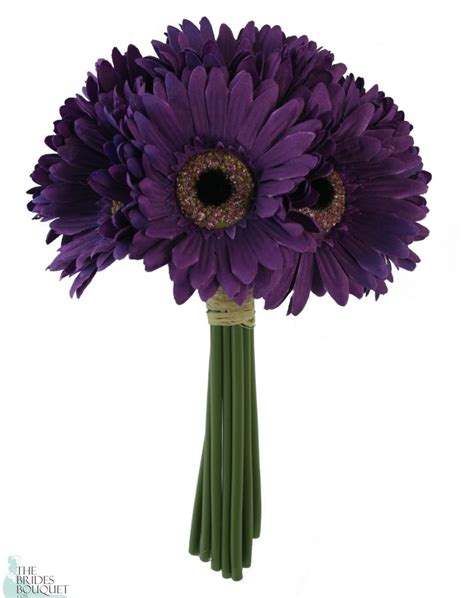purple daisy bouquet bridal wedding bouquet wedding
