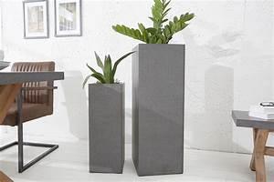 Pflanzkübel Beton Hoch : design s ule cement 100cm in und outdoor pflanzk bel beton optik riess ~ Whattoseeinmadrid.com Haus und Dekorationen