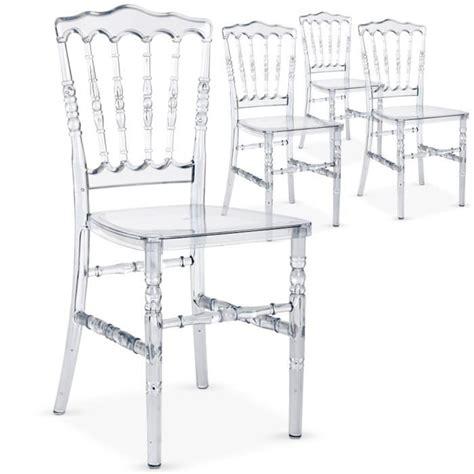 chaises plexiglass lot de 4 chaises napoleon plexi transparent achat