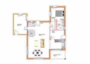 plan maison avec terrasse couverte surface habitable du With amazing type de toiture maison 9 plan maison en u en bois ooreka