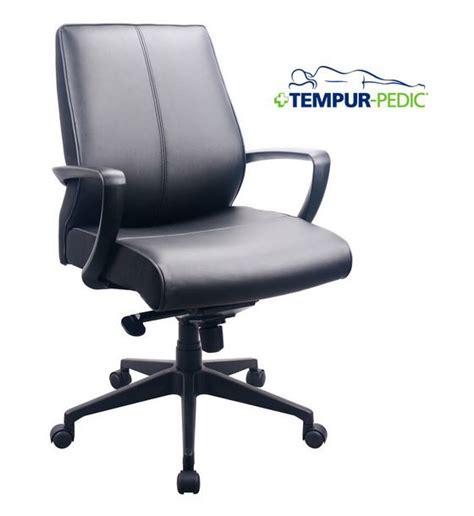 tempur pedic office chair tempurpedic tmp tmp350 tempur pedic leather midback office 25221