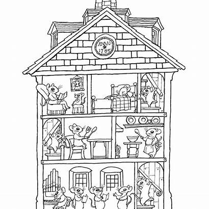 Coloring Pages Haunted Interior Rooms Printable Colouring