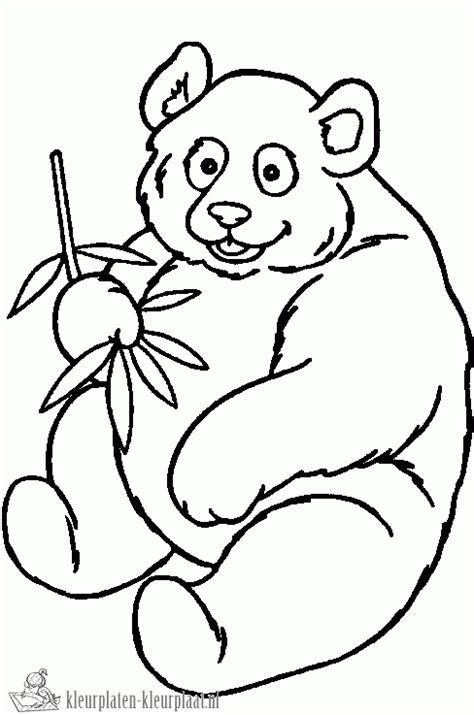 Kleurplaat Pandabeer by Kleurplaten Pandabeer Kleurplaten Kleurplaat Nl
