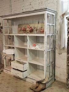 Handmade Bookcase - distressed paint finish on a bookcase