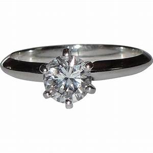 14k white gold 74 carat colorless diamond engagement ring With 5000 wedding ring
