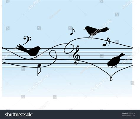 It's the image that, as the story goes, inspired leonard cohen to begin composing the legendary song bird on a wire in the 1960s. Musical Notes Birds On Wire Stock Vector 11529796 - Shutterstock