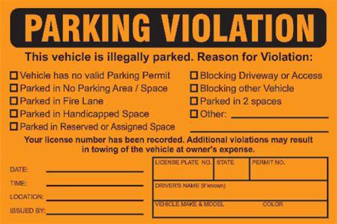 fake parking ticket printable