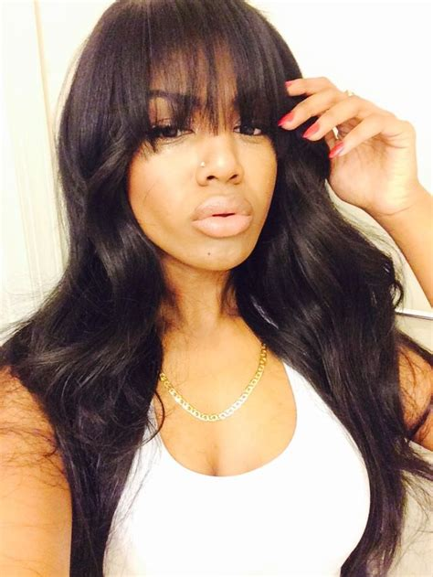 Sew In Hairstyles With Bangs 166 best images about front bangs on bobs