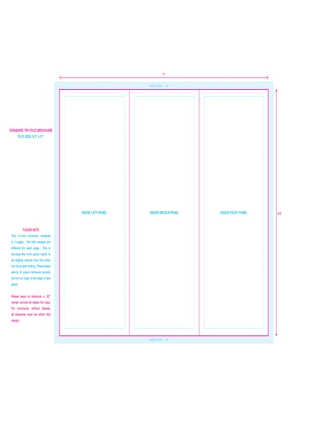 Free Tri Fold Brochure Template Downloads by Standard Tri Fold Brochure Template Free
