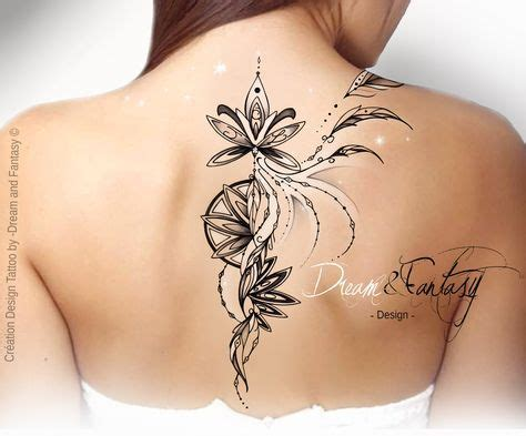 desing tattoo plume arabesque feerie rosace idees