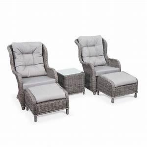 Fauteuil Relax Jardin : fauteuil de jardin transat chaise longue resine tressee ~ Nature-et-papiers.com Idées de Décoration