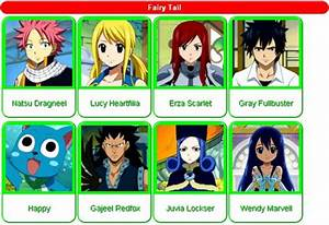 Gallery For > Fairy Tail Anime Characters Names