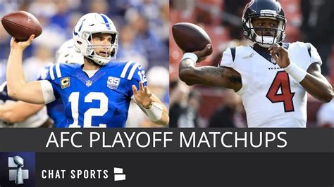 afc playoff picture schedule matchups   times