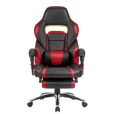 reclining padded chair with footrest racing car swivel gaming computer office chair with padded
