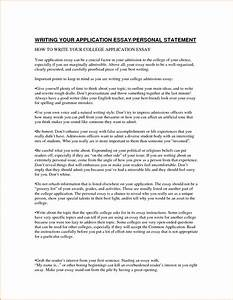 how to start personal statement for college application letter