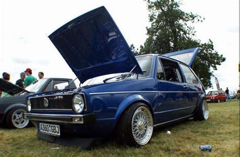 blue vw golf mk1 with silver bbs rims vw golf tuning
