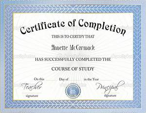 free certificate of completion templates for word art of With certificate of accomplishment template