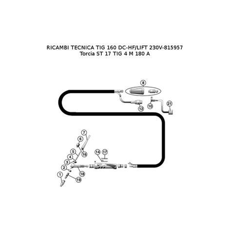 telwin parts for inverter welding tecnica tig 160 dc hf lift 230v