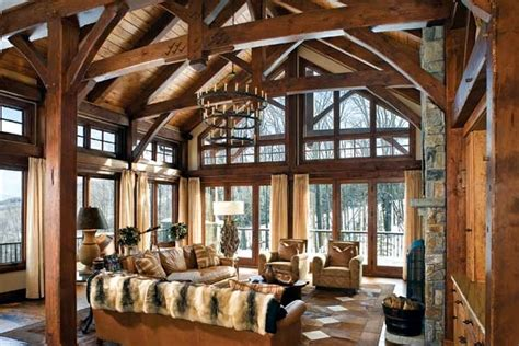 Best Images About Timber Home Great Rooms On Pinterest
