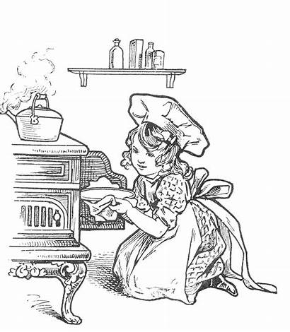 Coloring Pages Baking Cake Kitchen Adult Cookie