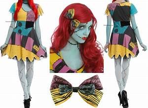 The Nightmare Before Christmas Sally Rag Doll Dress Wig ...