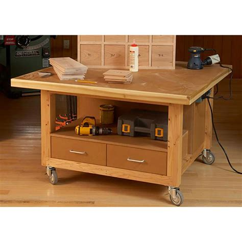 reliably rugged assembly table woodworking plan  wood magazine