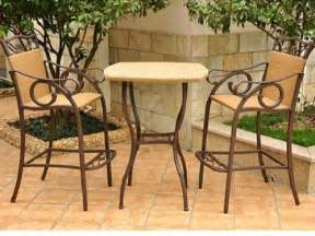 valencia three piece outdoor wicker bar height bistro set