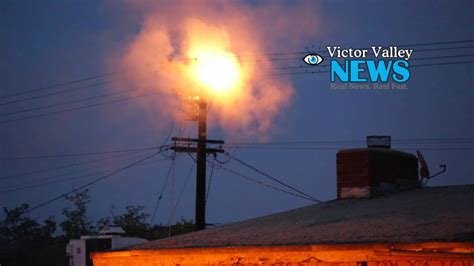transformer blows   victorville youtube