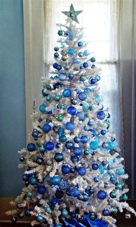 white  blue christmas decorations ideas decoration