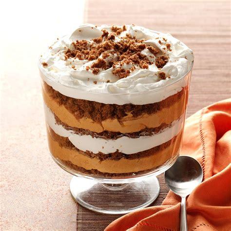 trifle ideas pumpkin butterscotch gingerbread trifle recipe taste of home