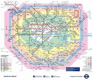 London travelcard zonenplan