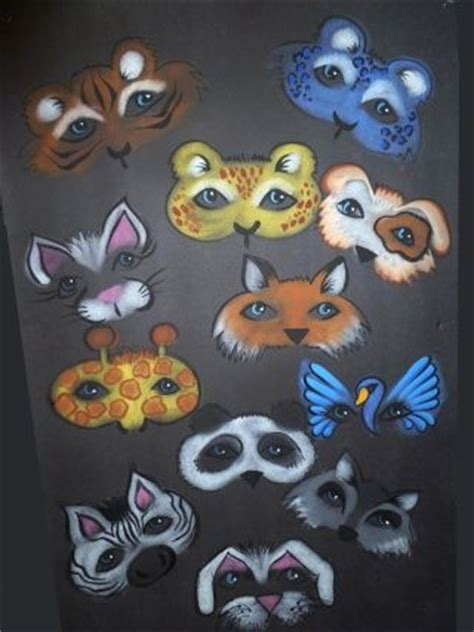 animal face painting clipart   cliparts