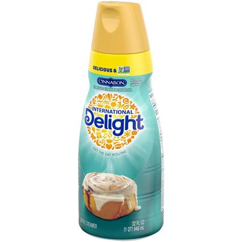 As a black coffee drinker, i don't often take advantage of all the fun coffee creamer the cinnamon toast crunch creamer is designed to taste like the spicy and sweet milk that. International Delight Coffee Creamer Cinnabon Classic Cinnamon Roll | Hy-Vee Aisles Online ...