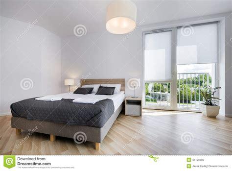 bright  comfortable bedroom interior design stock photo