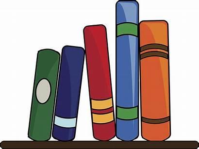 Shelf Clipart Clip Books Library Short Lining