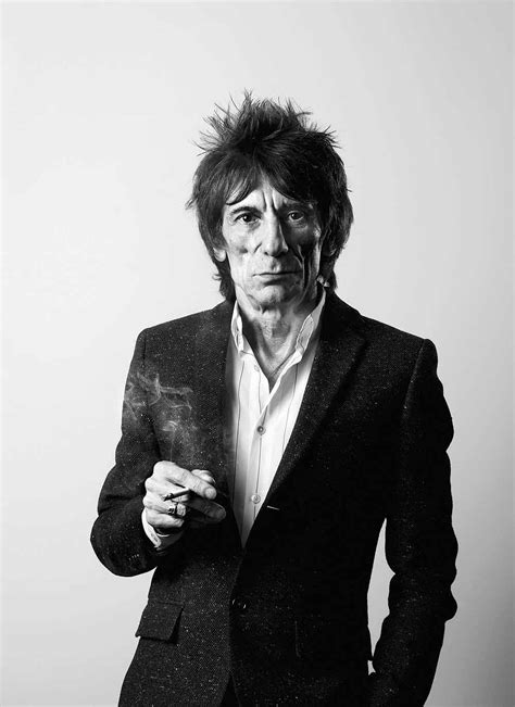 Ronnie Wood Spotted At Los Angeles Airport Wearing