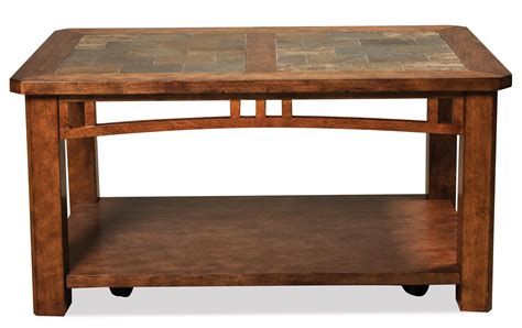 Coffee Table W Casters By Riverside Furniture  Wolf And