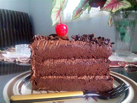 dapur wieda double chocolate cake  recipe