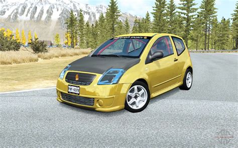 C2 domain, a protein structural domain. Citroen C2 for BeamNG Drive