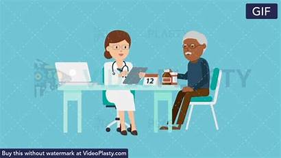 Doctor Patient Consultation Gifs Animation Stethoscope Videoplasty