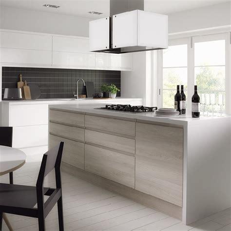 White Wood Grain Laminate Kitchen Cabinets   Buy Laminate