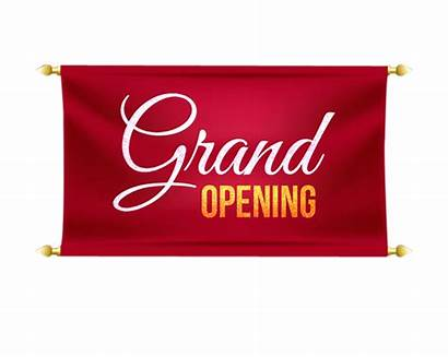 Opening Grand Banner Transparent Clipart Pngimagesfree