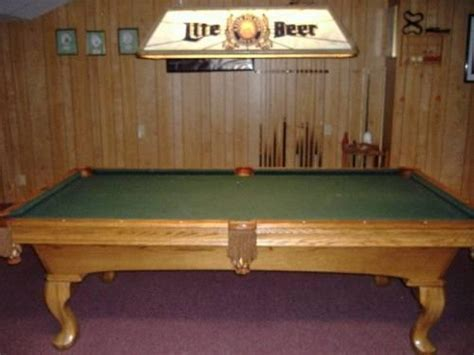 Oak Olhausen Pool Table W Accufast Cushions