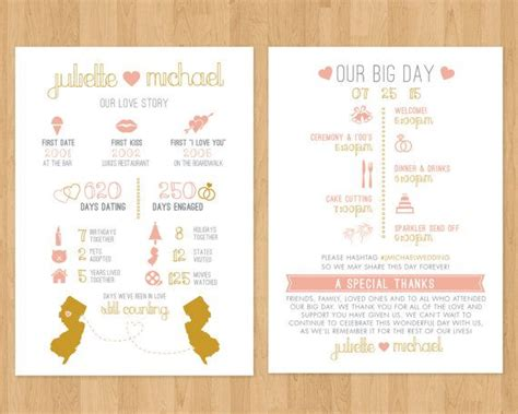 infograph wedding program printable  timeline fun