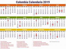 Calendar 2019 Colombia Pdf newspicturesxyz