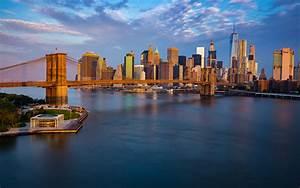 bridge in new york city usa from manhattan in