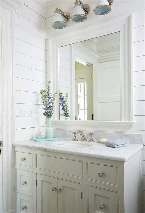Coastal Bathroom Mirrors by Gorgeous White Style Bathroom Is Fitted With