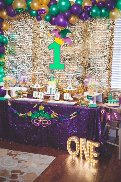Kara's Party Ideas Mardi Gras Birthday Party Kara's