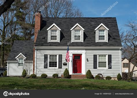 Cape Cod Style House With Front Porch